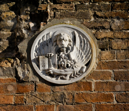 Venice wall sculpture  stock photo, Wall sculpture in Venice Italy by Jaime Pharr