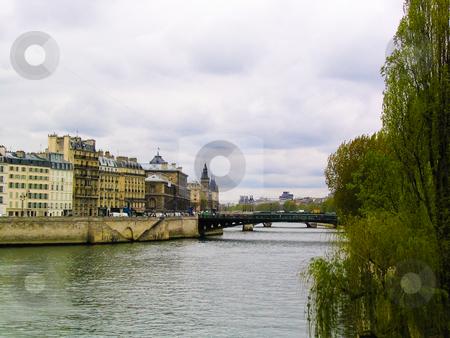 River Seine stock photo, A bridge across the Seine in Paris by Jaime Pharr