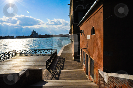 Venice quay stock photo, Quay in Dorsoduro, Venice by Jaime Pharr