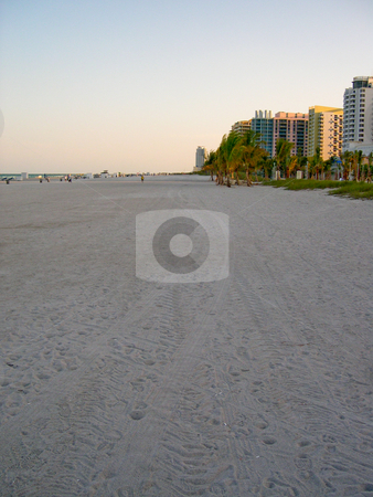 Miami Beach stock photo, Buildings and beach in Miami Florida by Jaime Pharr