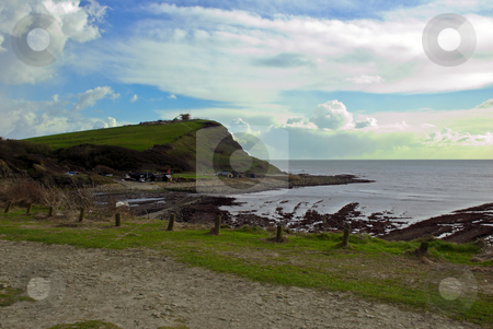 Kimmeridge Bay stock photo, Scenic view of Kimmeridge bay  in Dorset by Robert Ford