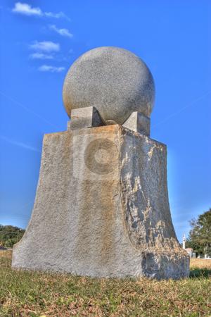 Granite monument in cemetery stock photo, Granite monument in a Bradenton, FL cemetery. by Steve Carroll