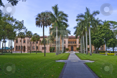 East Side of Ringling Mansion stock photo, East side of Ringling Mansion in Sarasota, Florida. by Steve Carroll
