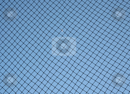 Baseball netting stock photo, Baseball netting behind home base to stop foul balls by Stacy Barnett
