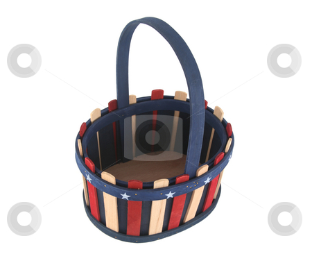 Basket stock photo, Fourth of July basket by Stacy Barnett