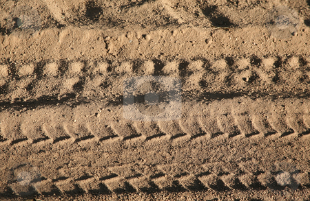 Background dirt stock photo, Dirt background with vehicle pattern track by Stacy Barnett