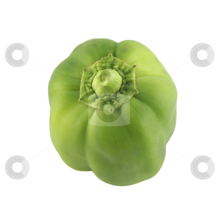 Bell pepper 1 stock photo, Colorful green bell pepper isolated on white background by Stacy Barnett