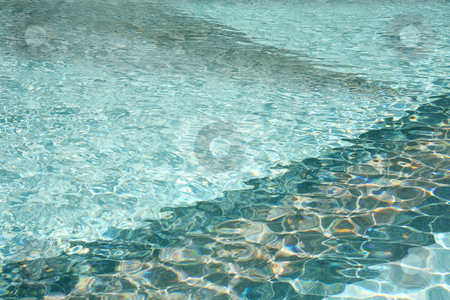 Beautiful water 2 stock photo, Shimmering swimming pool sports water background with marble pattern by Stacy Barnett