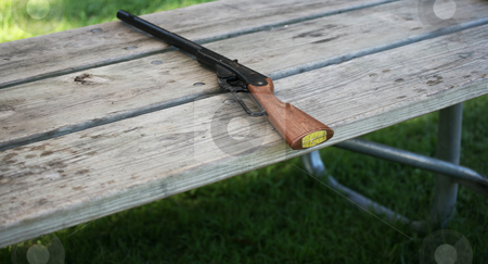 BB gun stock photo, BB gun sitting on a table by Stacy Barnett