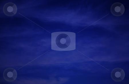 Blue night sky stock photo, Beautiful deep blue night or evening sky by Stacy Barnett