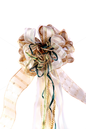 All occasion bow 1 stock photo, Beautiful handmade Christmas or other occasion bow by Stacy Barnett