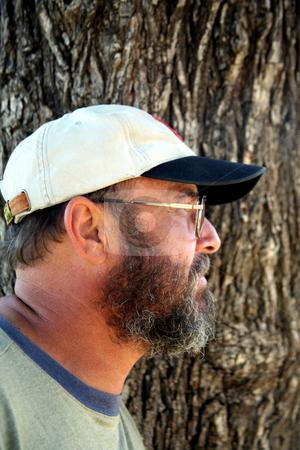 Bearded senior profile stock photo, Profile of a retired gentleman by Stacy Barnett