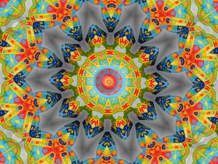 Colorful Birthday Kaleidoscope - Background Pattern stock photo, Colorful Birthday Kaleidoscope - Background Pattern by Dazz Lee Photography