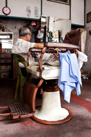 Melacca barber stock photo,  by Jimme Woudstra