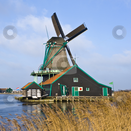 Dutch Windmill stock photo, A typical Dutch Windmill in de Zaanse Schans by Corepics VOF