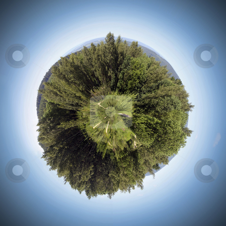 Nature Sphere stock photo, The nature around us produces the oxygen we need. We should be careful of our world by Corepics VOF