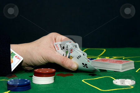 Cheating stock photo, Having an ace up your sleeve, cheating at a game or committing adultery? by Corepics VOF