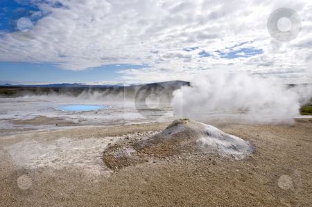 Fumarole stock photo, A fumarole in Hveravellir, north west Iceland by Corepics VOF