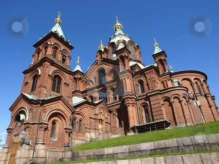 Uspensky Cathedral Helsinki stock photo, Uspensky Cathedral in Helsinki/Finland by Lars Kastilan