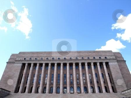 Parliament of Finland  stock photo, Parliament building in Helsinki/Finland by Lars Kastilan