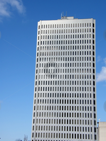 Skyscraper stock photo, Light colored Skyscraper in Toledo Ohio with lots of windows. by Dazz Lee Photography