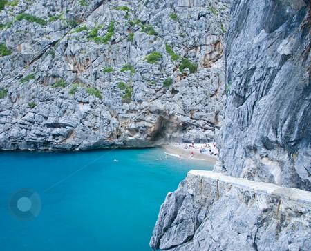 Mallorca stock photo, Beautiful beach in the mountains of mallorca spain by Wolfgang Zintl