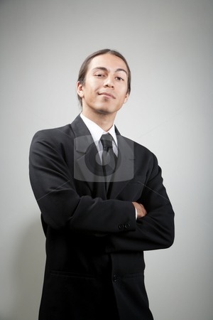 Portait of confident young man stock photo, Portait of confident young mixed race man by Scott Griessel