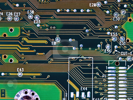 Micro technology stock photo, Closeup of a circuit board, for backgrounds by Vladimir Koletic