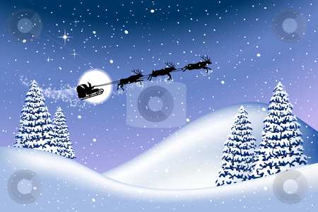 Christmas background stock vector clipart, Christmas background, all elements are editable on different layers by Laurent Renault