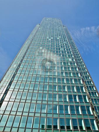 Modern skyscraper stock photo, Modern skyscraper under blue sky hdr processed by Laurent Dambies
