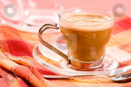 Cappuccino stock photo, Macro picture, cup of coffe, cappuccino by Gennady Kravetsky