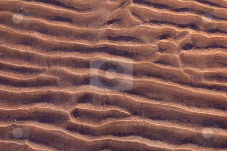 Sand ripples stock photo, Sand ripples on beach creating nice patterns by Dirk Ercken