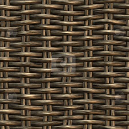 Wicker work pattern stock photo, Seamless 3d texture of brown interweaved basket by Wino Evertz