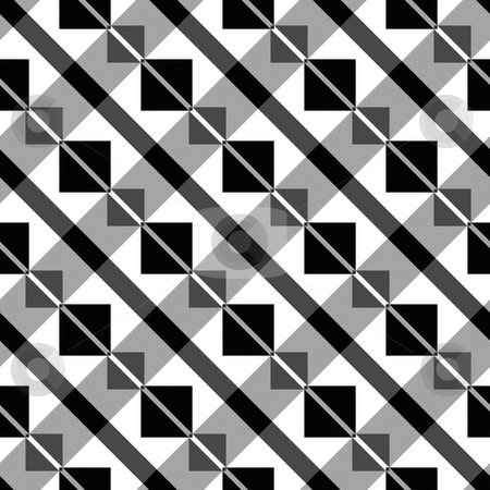 Art deco block pattern stock photo, Seamless texture of diagonal lines of blocks by Wino Evertz