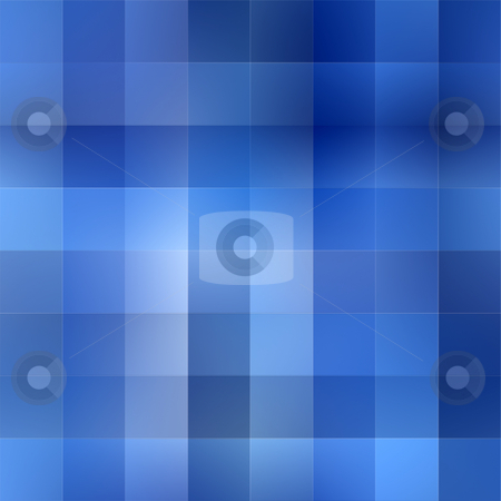 Soft blue rags pattern stock photo, Texture of squares in different cool blue colors by Wino Evertz