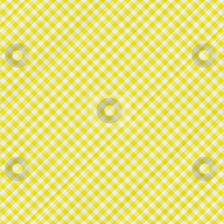 Yellow table cloth stock photo, Seamless texture of yellow and white blocked tartan cloth by Wino Evertz