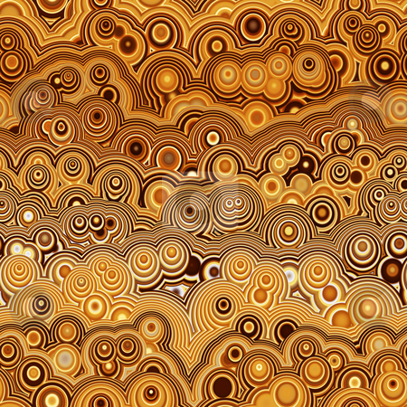 Brown retro ring pattern stock photo, Texture of explosion of bubbles in hippy style by Wino Evertz