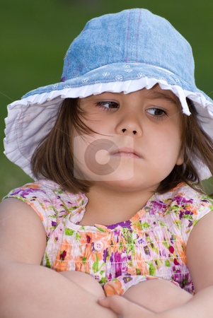 Mad Child stock photo, Closeup view of a mad four year old when she was outside by Richard Nelson