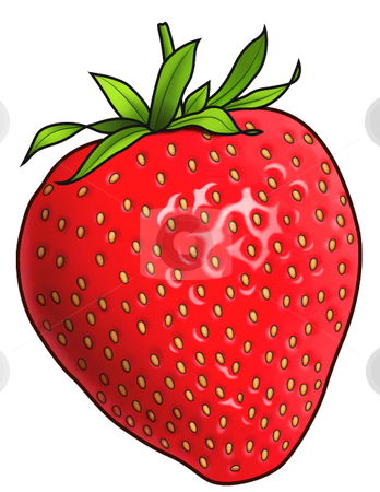 Strawberry stock vector clipart, A vector illustration of a strawberry ...