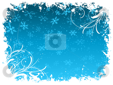 Grunge snowflake background stock vector clipart, Decorative grunge style snowflake background by Kirsty Pargeter