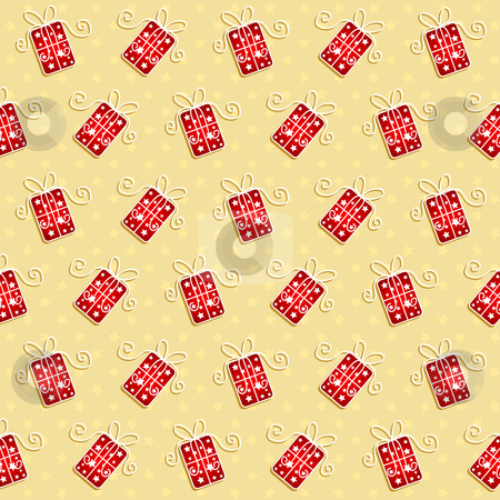 Christmas gift background stock vector clipart, Decorative background with Christmas gifts by Kirsty Pargeter