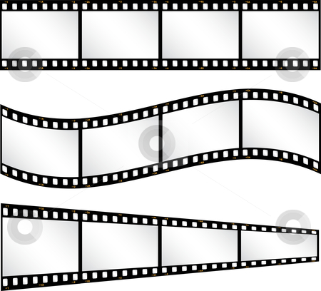 Filmstrip backgrounds stock vector clipart, Various filmstrip backgrounds by Kirsty Pargeter