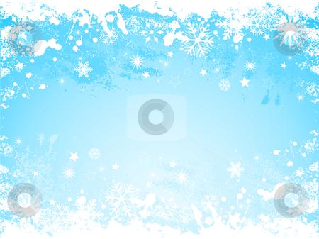 Grunge snowflake background stock vector clipart, Grunge background of snowflakes by Kirsty Pargeter