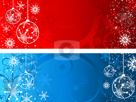 Christmas backgrounds stock vector clipart, Decorative Christmas backgrounds by Kirsty Pargeter