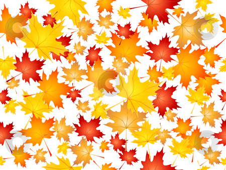Falling maple leaves stock vector clipart, Background of falling Maple leaves by Kirsty Pargeter