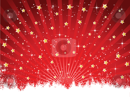 Starry background stock vector clipart, Starry Christmas background by Kirsty Pargeter
