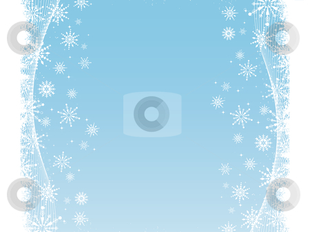 Abstract snowflake background stock vector clipart, Abstract snowflake background by Kirsty Pargeter