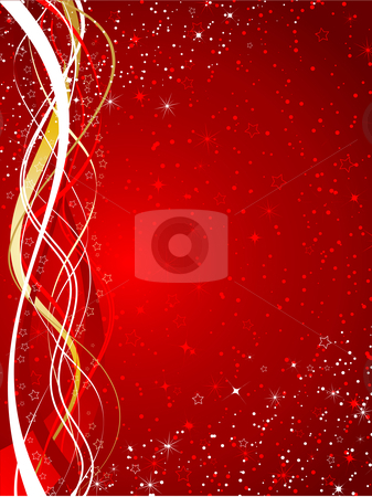 Christmas background stock vector clipart, Decorative starry Christmas background by Kirsty Pargeter