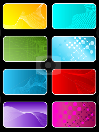 Abstract designs stock vector clipart, Abstract design backgrounds by Kirsty Pargeter