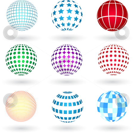 Spheres stock vector clipart, Spheres with various designs by Kirsty Pargeter